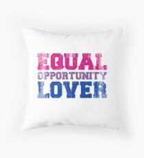 Equal Opportunity Lover Throw Pillow