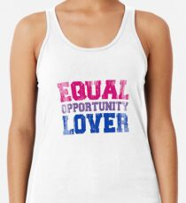 Equal Opportunity Lover Racerback Tank Top