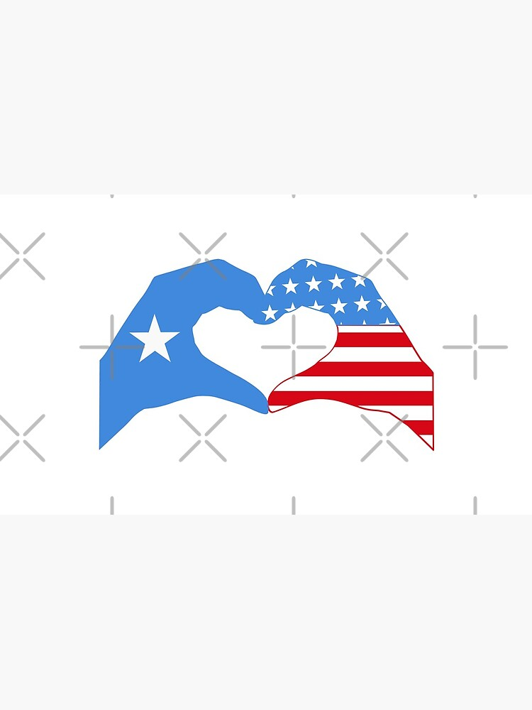 We Heart Somalia & USA Patriot Flag Series by carbonfibreme