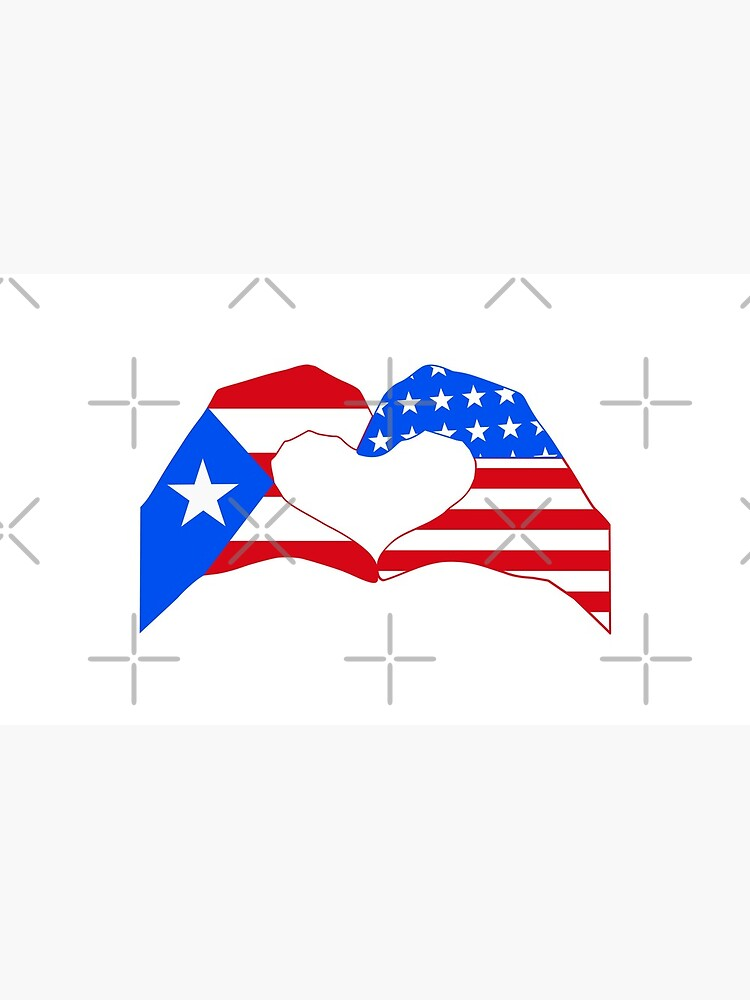 We Heart Puerto Rico & USA Patriot Flag Series by carbonfibreme