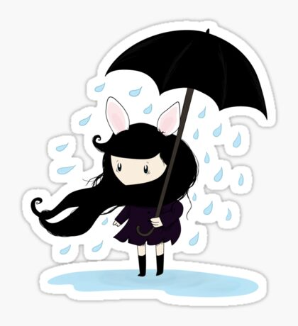 why does it always rain on me? Sticker