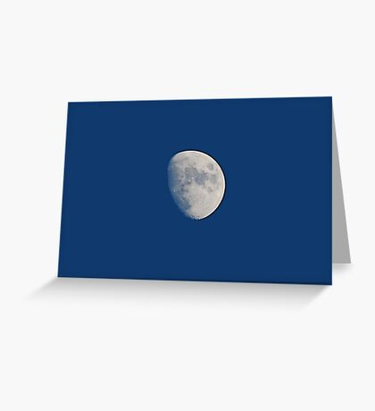 Three Quarters Moon Greeting Card