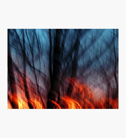 Out of the Blue Into the Fire #2 Photographic Print
