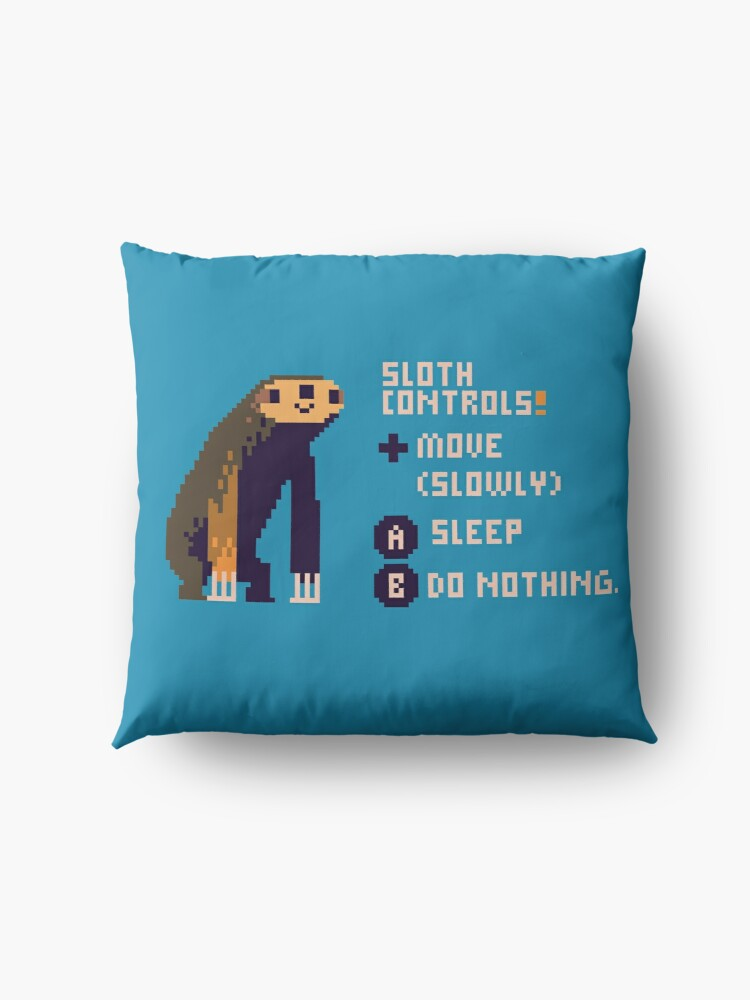 Alternate view of sloth controls! Floor Pillow