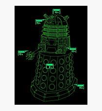Exterminate the Robot - Dark Photographic Print