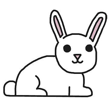 Weißer Hase von Rocket-To-Pluto