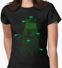 Exterminate the Robot - Dark Women's Fitted T-Shirt