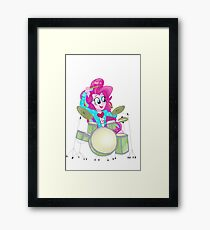 Pinkie Pie Rainbow Rocks Framed Print