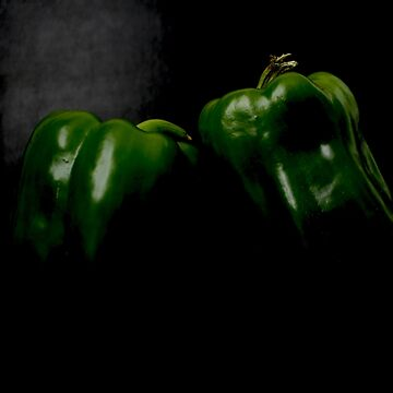 Two Green Peppers by AlanHarman