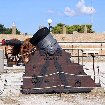 old mortar and cannon Corfu town fortress Greece by goceris