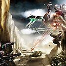 Kaiju Attacks by Ted Kim