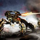 Mech Battle by Ted Kim