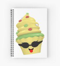 cooles Cupcake Emoticon Spiralblock