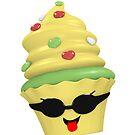 cooles Cupcake Emoticon von Stefanie Keller