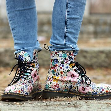 colorful shoes with a flower pattern teenage girl lifestyle by goceris