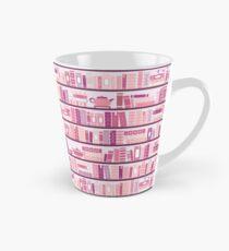 Pink Bookcase Pattern Romance Tea Books Tall Mug