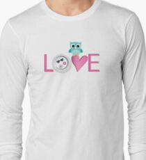 Love Owl with charm Long Sleeve T-Shirt
