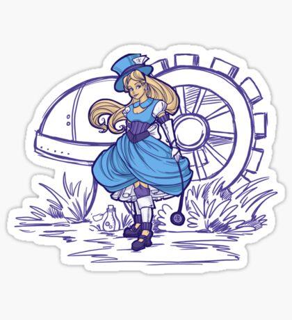 Steampunk Alice - Revised Sticker