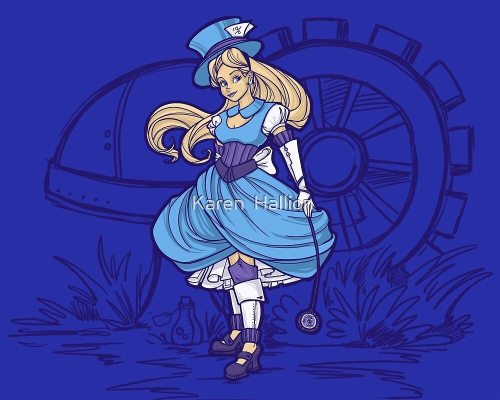 Steampunk Alice - Revised by Karen  Hallion