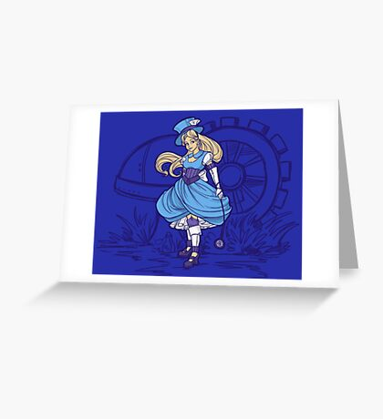 Steampunk Alice - Revised Greeting Card