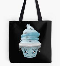 frierendes Cupcake Emoticon Tasche