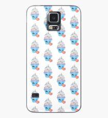 zwinkerndes Cupcake Emoticon Hülle & Klebefolie für Samsung Galaxy