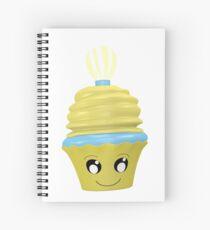 Cupcake Emoticon mit Geistesblitz Spiralblock