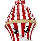 Cupcake Emoticon in Denkerpose von Stefanie Keller