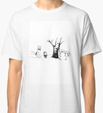 Jon and Ghost (Black and White) Classic T-Shirt