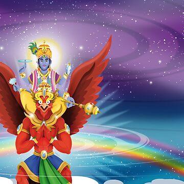 Vishnu & Garunda / Shivas-World von Swen-Marcel