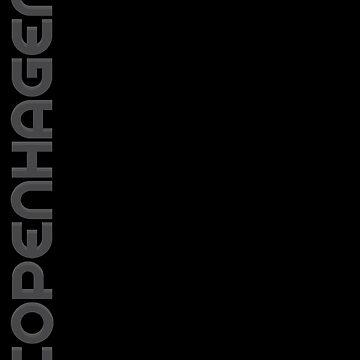 Copenhagen Vertical Text by designkitsch