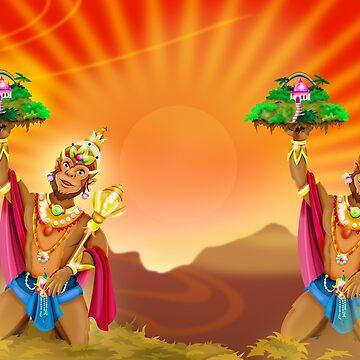 Hanuman / Shivas World von Swen-Marcel