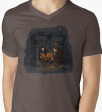 The Witch in the Fireplace Men's V-Neck T-Shirt