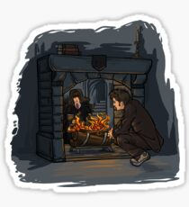 The Witch in the Fireplace Sticker