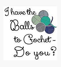 Balls 2 crochet - teal Photographic Print