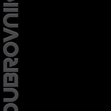 Dubrovnik Vertical Text by designkitsch