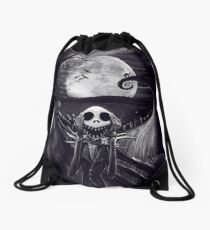 The Scream Before Christmas Drawstring Bag