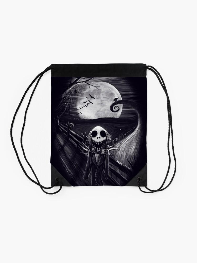 Alternate view of The Scream Before Christmas Drawstring Bag
