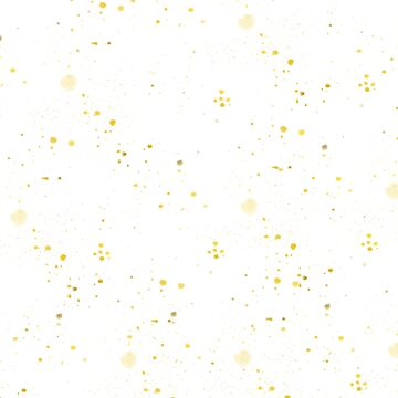 Hand painted yellow gold watercolor splatters  by Kicksdesign