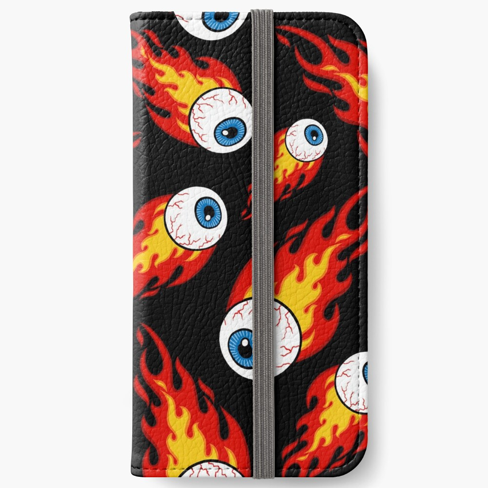 Flaming Eyeball Pattern iPhone Wallet