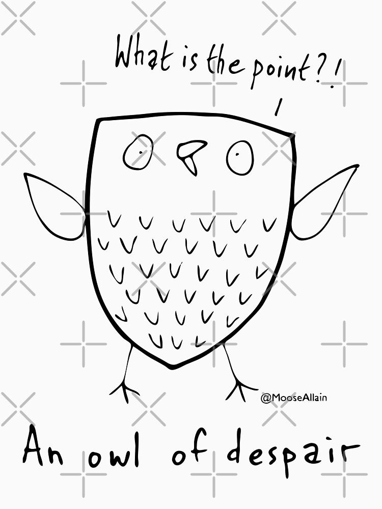 An Owl of Despair by worldofmoose
