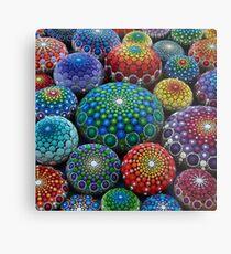 Jewel Drop Mandala Stone Collection #1 Metal Print