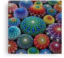 Jewel Drop Mandala Stone Collection #1 Canvas Print