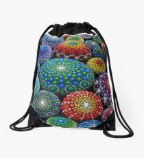 Jewel Drop Mandala Stone Collection #1 Drawstring Bag