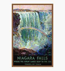 Niagara Falls Vintage Travel Poster Restored Photographic Print