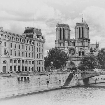 Notre-Dame de Paris Black & White by designhp