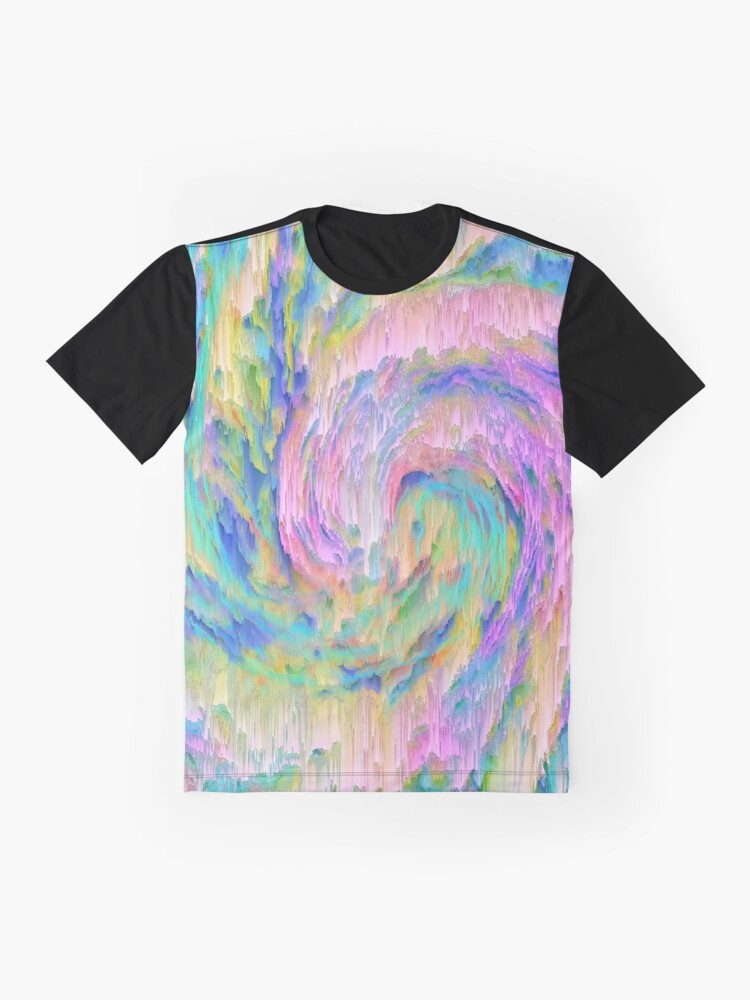 Alternate view of Abstract dripping digital wave Graphic T-Shirt