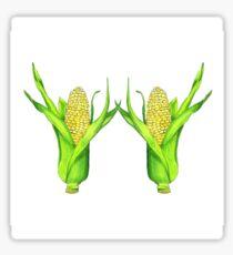 Two Ears of Corn Sticker