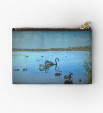 Black Swans at Lake Joondalup, Western Australia Studio Pouch