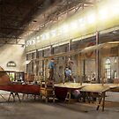 Plane - In the Airplane Factory 1918 by Michael Savad